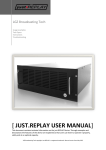 Just.replay USER manual - LGZ Broadcasting Technologies