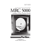 Partlow MRC5000 circular chart recorder user manual