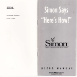 Simon Says `Here`s How!` Users Manual