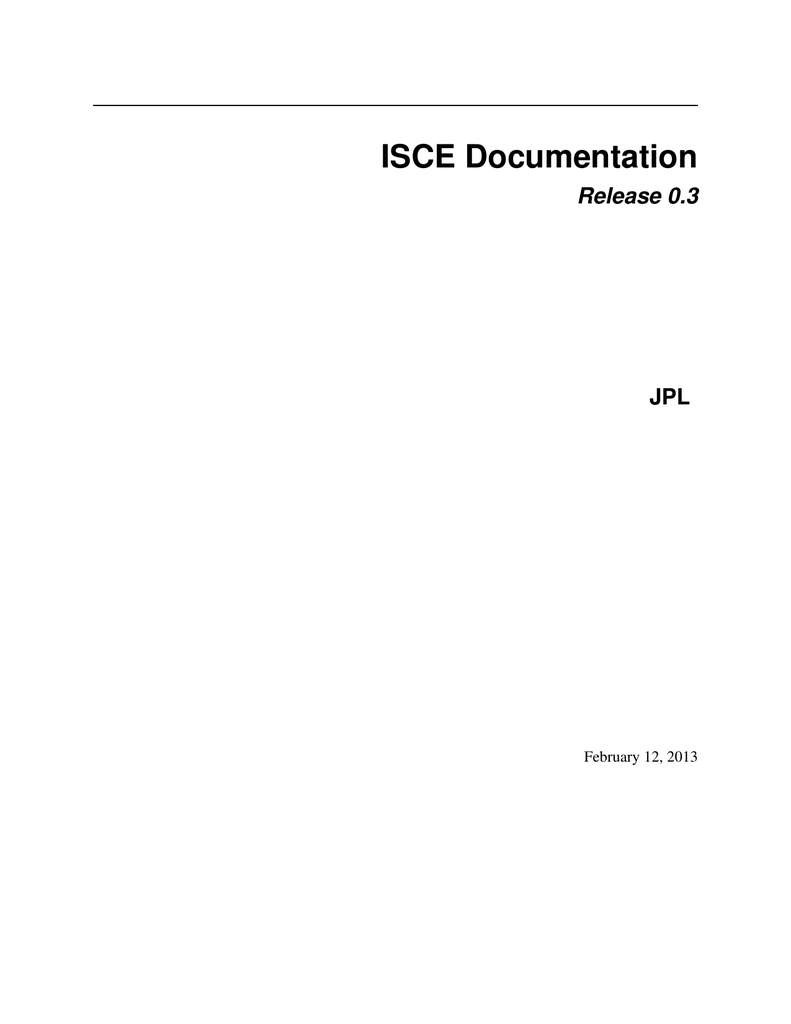 ISCE manual and installation, JPL