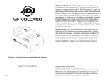 ADJ VF Volcano User Manual