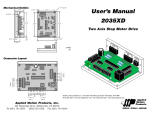 User`s Manual 2035XD Two Axis Step Motor Drive