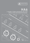 HA6 Manual - Audiologic