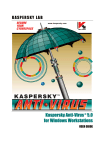 Kaspersky Anti-Virus® 5.0 for Windows Workstations