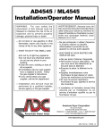 AD4545 / ML4545 Installation/Operator Manual