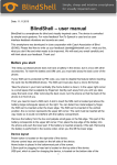 BlindShell – user manual