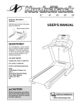 USER`S MANUAL - Icon Heath & Fitness