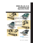 XENA 2K, LH, & LS Installation and Operation Guide