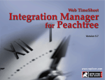 Web TimeSheet Integration Manager for Peachtree