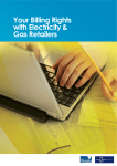 Your Billing Rights with Electricity & Gas Retailers