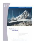 PEAKS Studio 3.1 User Manual - Bioinformatics Solutions Inc.