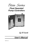 Float Operated Pump Controllers By CSI Controls User`s Manual