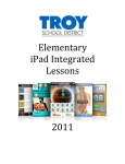 Elementary iPad Integrated Lessons 2011