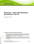 Methylamp ™ Global DNA Methylation Quantification