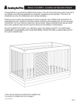 Harlow Crib (8601) - Assembly and Operation Manual