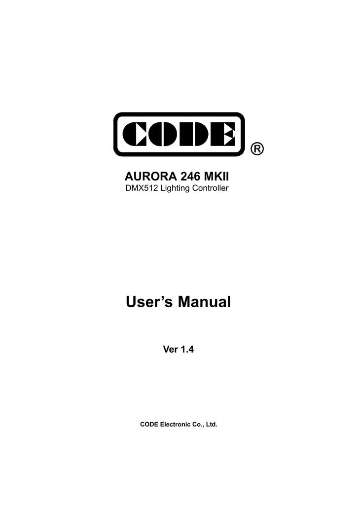 User`s Manual Ver 1 4 AURORA 246 MKII