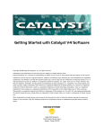 Getting Started with Catalyst V4 Software