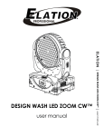 design wash led zoom cw - user manual ver 1