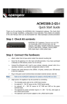 ACM5508-2-GS-I Quick Start - of /download