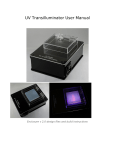 UV Transilluminator User Manual