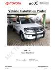 Vehicle Installation Profile