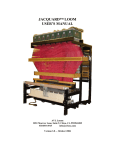JACQUARD™ LOOM USER`S MANUAL
