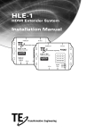 HLE-1 HDMI Extender System Installation Manual