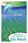 User Manual - Aquachi Ionic Foot Bath & Spa
