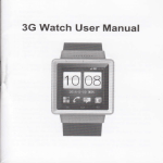 3G Watch User Manual
