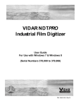 User Manual - Vidar Systems Corporation