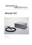 UltraLab_ULS_Manual_.. - GENERAL ACOUSTICS Echosounding