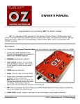 OZ Owner`s Manual