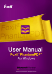 Foxit PhantomPDF User Manual