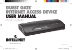 GUEST GATE™ INTERNET ACCESS DEVICE USER MANUAL
