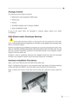 (Electro-static Discharge) Warning Hardware Installation Procedures