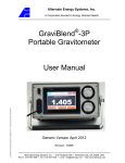 GraviBlend -3P Portable Gravitometer User Manual