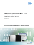 454 Sequencing System Software Manual, v 2.5p1 General