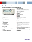 Timer/Counter/Analyzers - Tektronix FCA3000 and FCA3100 Series