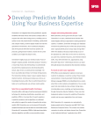 Develop Predictive Models Using Your Business Expertise