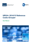 HRG4+ 2014/15 Reference Costs Grouper User Manual