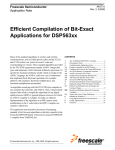 Efficient Compilation of Bit-Exact Applications for DSP563xx
