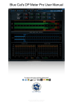 Blue Cat`s DP Meter Pro User Manual