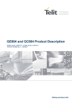 GE864 and GC864 Product Description
