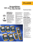 ScopeMeter® 120 and 190 Series