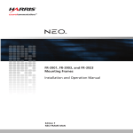 NEO FR-3901, FR-3903, and FR-3923 Frame Installation and