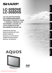 Sharp LC-20SD5E user manual Tv User Guide Manual Operating