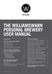 THE WILLIAMSWARN PERSoNAL BREWERy USER MANUAL