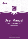 Foxit PhantomPDF_User Manual