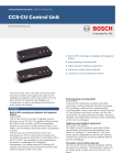 CCS‑CU Control Unit - Bosch Security Systems