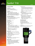Sunrise Telecom Sunset T10 datasheet